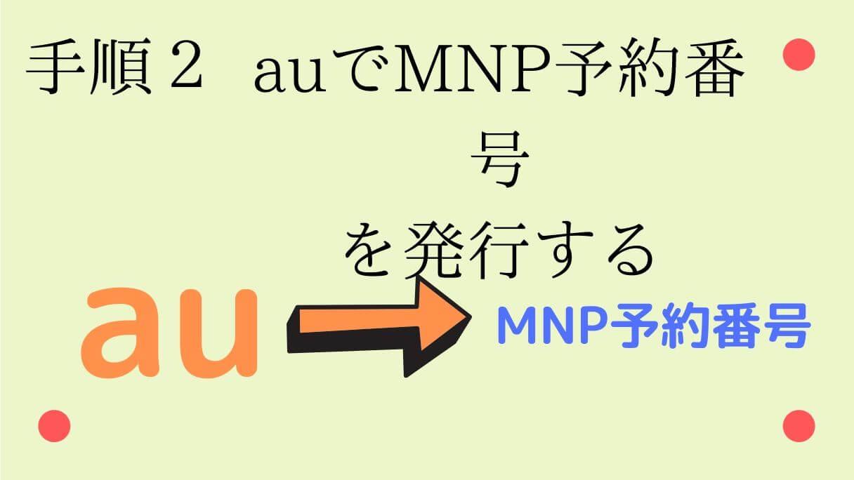 auからMNP予約番号を発行する