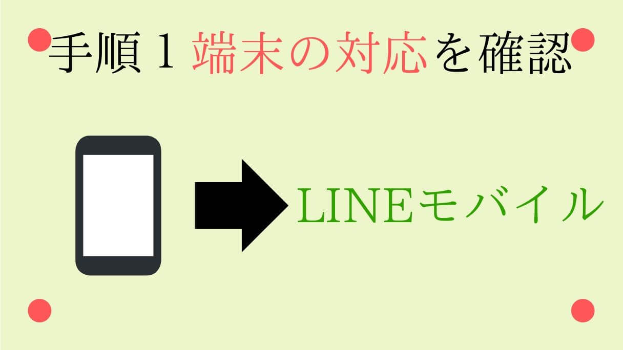 LINEモバイルでauの端末の対応を確認