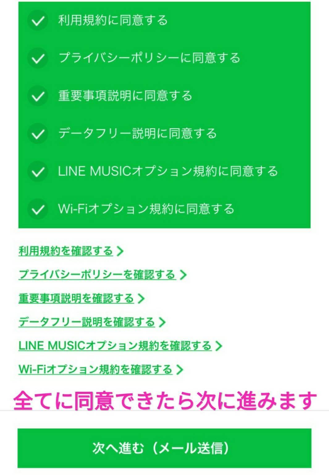 lineモバイルの利用規約