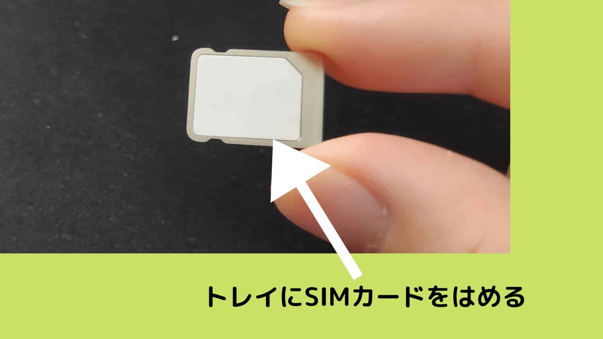 LINEモバイルのSIMカードをiPhoneのトレイにはめる