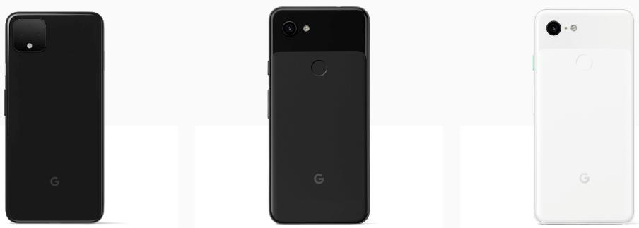 Google Pixel4と3aと3