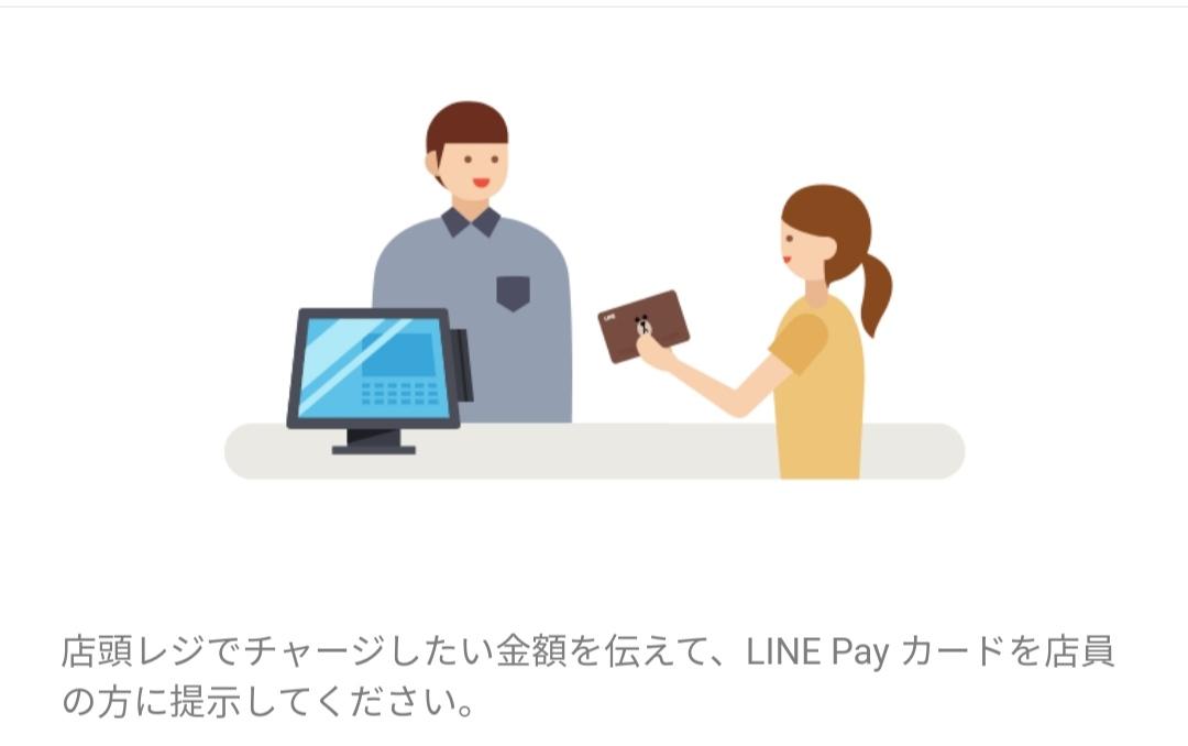 LINE Payをコンビニでチャージ
