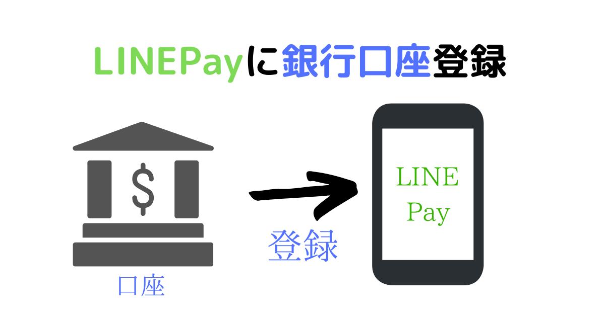 LINE Payの銀行口座登録方法