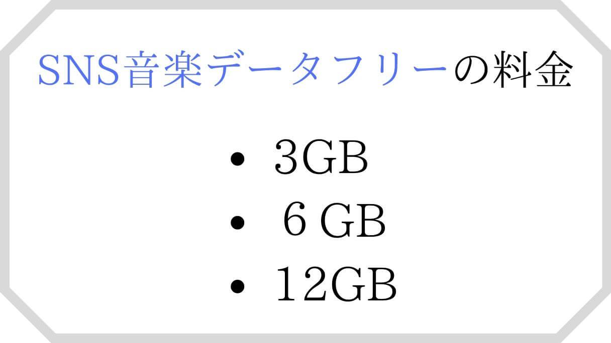 SNS音楽データフリーの月額料金