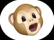 猿のアニ文字
