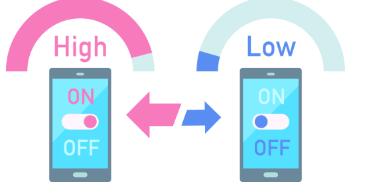 イオンモバイルの低速通信と高速通信切り替え