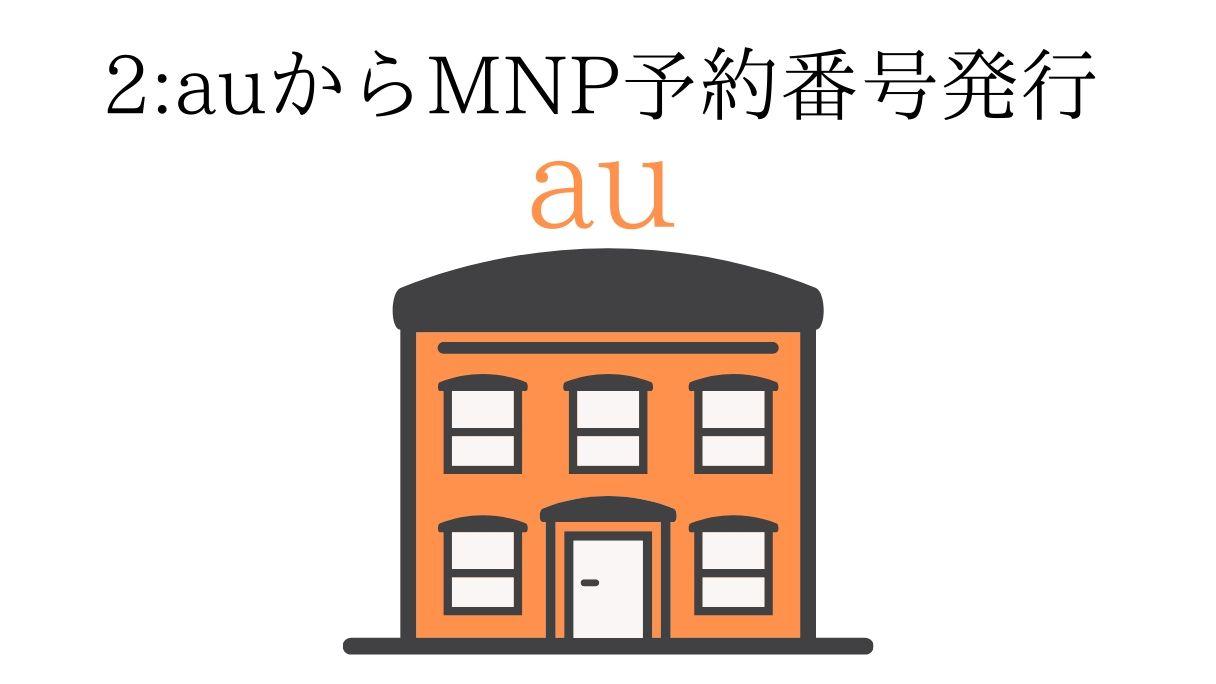 auからMNP予約番号を取得
