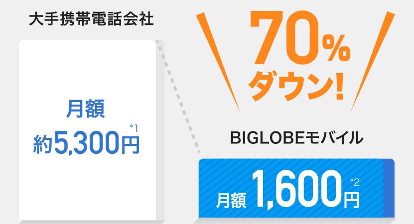 BIGLOBEモバイルとTCL PLEX