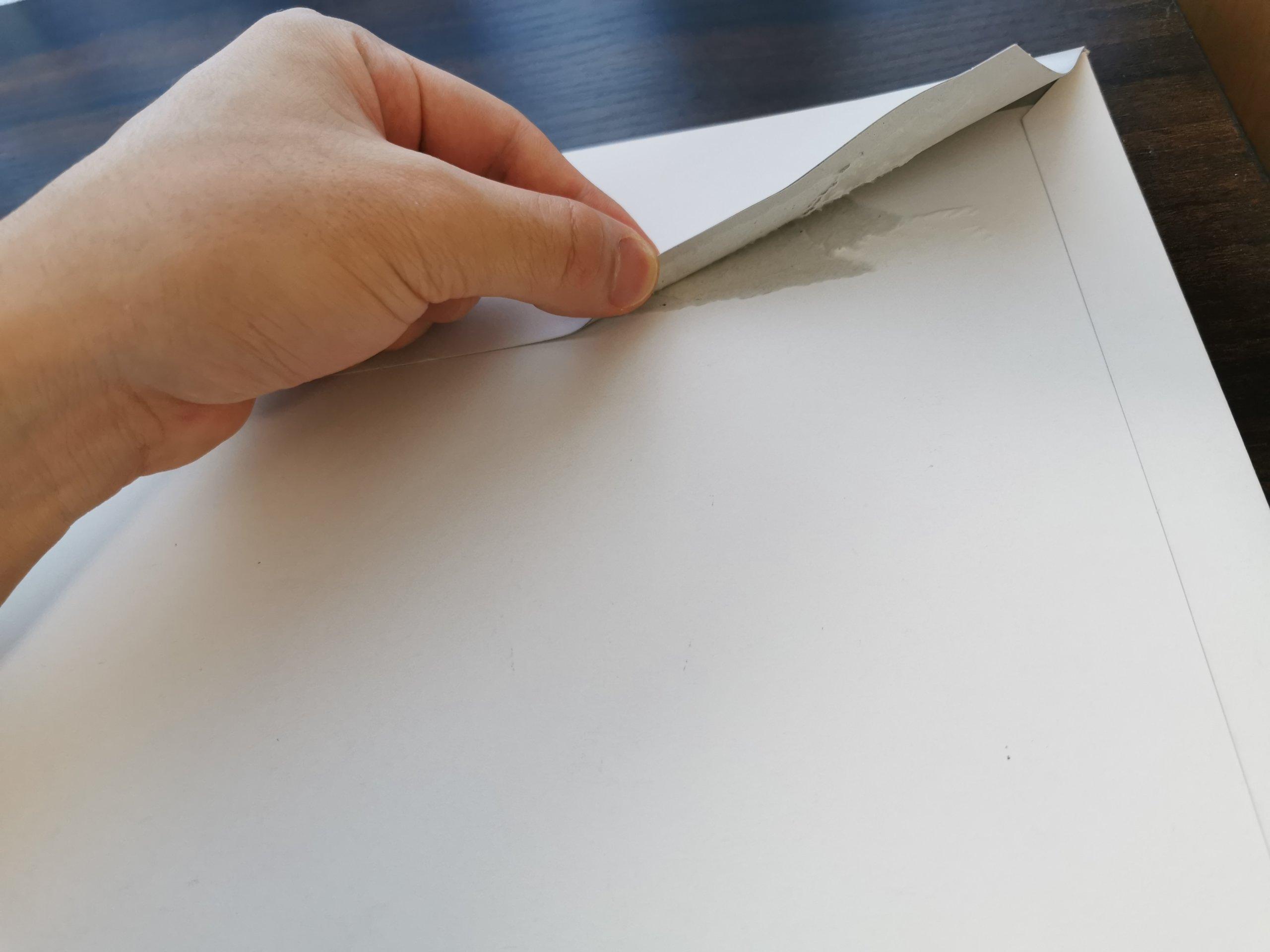 楽天モバイルのeSIMの封筒を開封