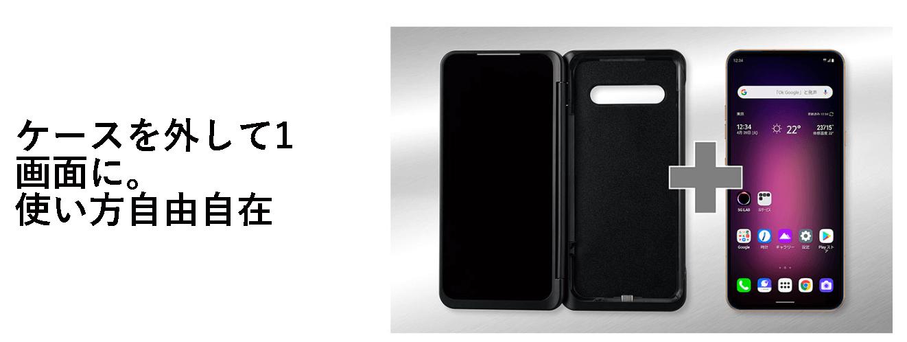 LG V60 ThinQ 5Gのデュアルスクリーン