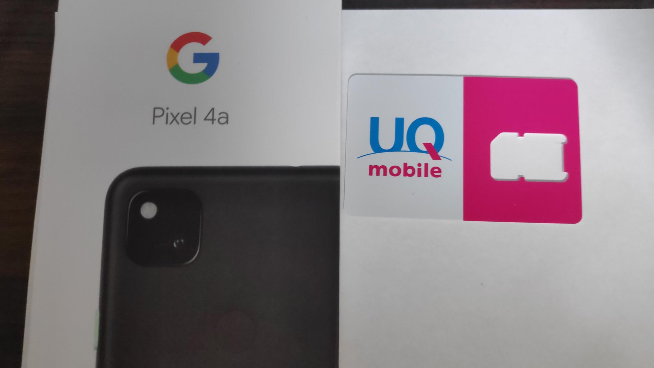 UQモバイルとgoogle pixel 4a