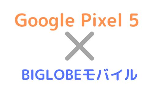 BIGLOBEモバイルでGoogle Pixel 5を使う方法!APNの設定手順も解説【対応してる?】