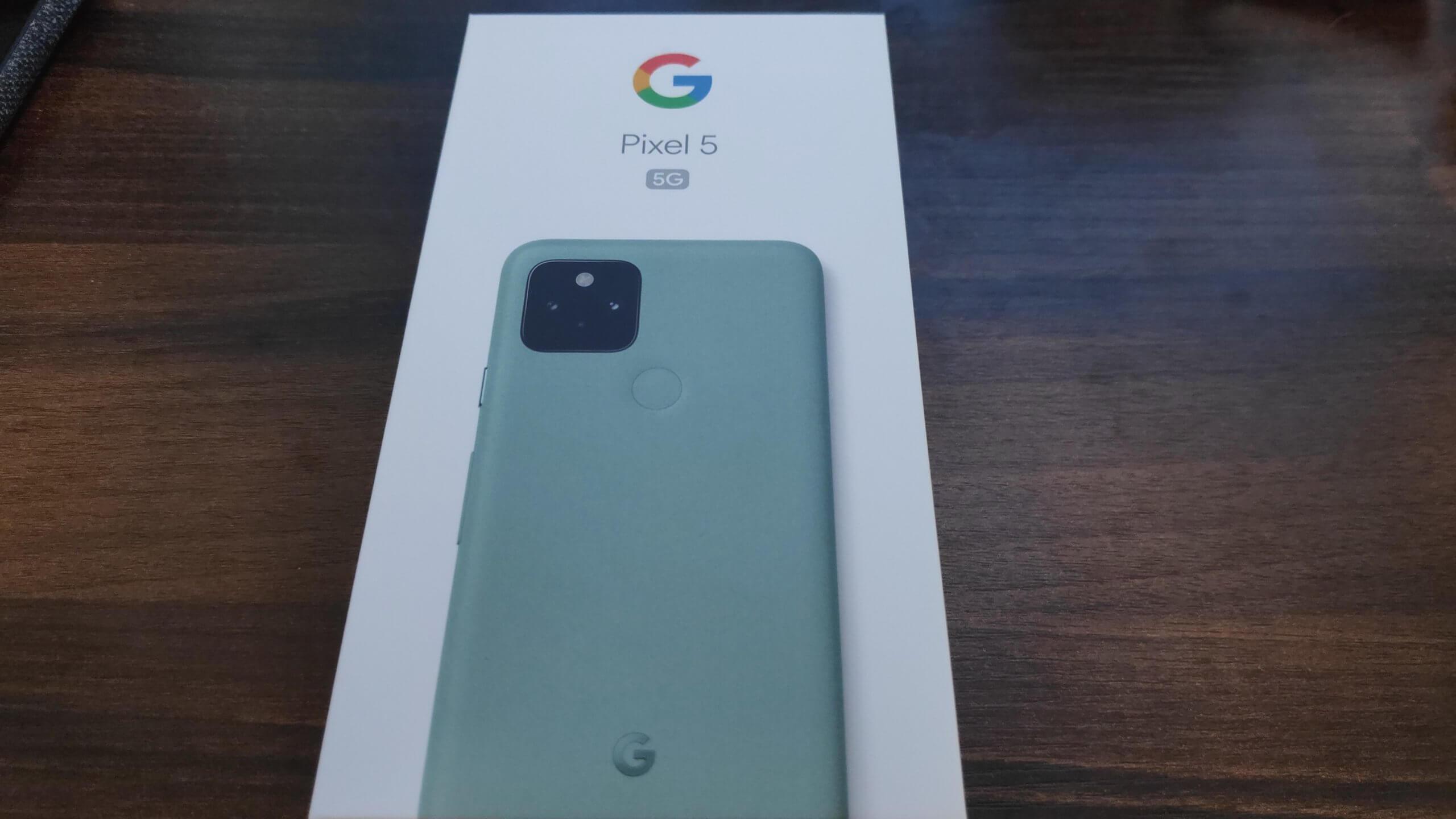 Google PIxel 5 5Gの化粧箱