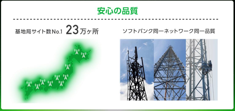 Softbank ON LINEはソフトバンクと同一ネットワーク(回線)