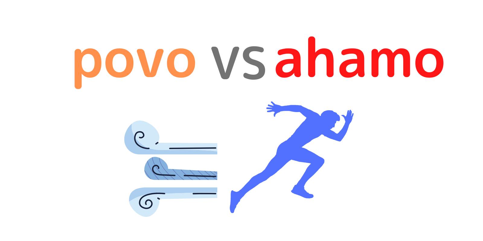 povoとahamoの通信速度を比較